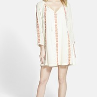 Hinge Embroidered Shift Dress | Nordstrom