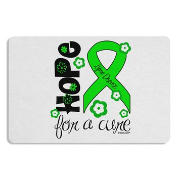 Hope for a Cure - Lime Green Ribbon Lyme Disease - Flowers Placemat Set of 4 Placemats