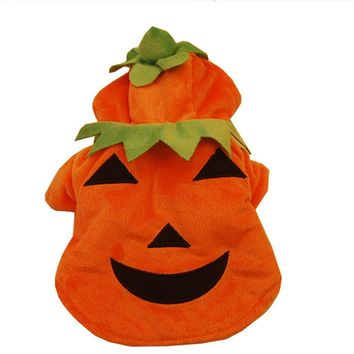 Funny Pumpkin Pet Clothes Puppy Fancy Halloween Cosplay Costume Halloween Party Christmas Gift