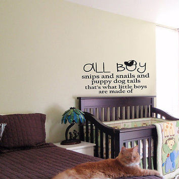 KIDS WALL ART STICKER BABY ROOM NURSERY BOY GIRL BEDROOM FUNNY BOYS SPECIAL 19