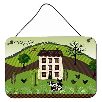 Folk Art Country House Wall or Door Hanging Prints VHA3024DS812