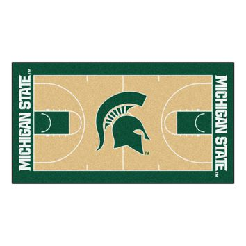 Michigan State Basketball Court Runner 30x72