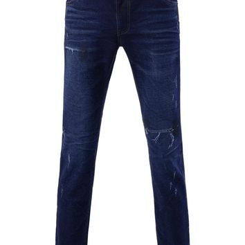 Men's Slim Fit Denim Napping Lining Jeans