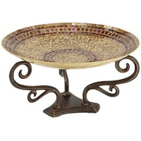 Champagne Mosaic Bowl with Stand