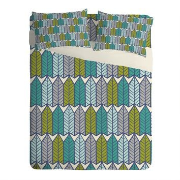 Heather Dutton Arboretum Leafy Greens Sheet Set Lightweight