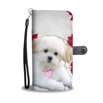Maltese Puppy Dog Wallet Case- Free Shipping