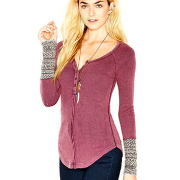 Free People Newbie Long-Sleeve Thermal Top
