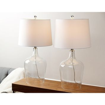 Abbyson Azure Clear Glass Table Lamp (Set of 2) | Overstock.com Shopping - The Best Deals on Lamp Sets