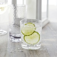 Hammered-Acrylic Double Old Fashioned Glasses, Set of 4   Sur La Table