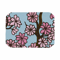 """Art Love Passion """"Cherry Blossom Day"""" Floral Illustration Place Mat"""