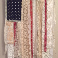 Boho Gypsy American flag wall hanging, door decor
