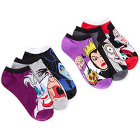 Disney Women's Assorted Villains No Show Socks 6 Pack | macys.com