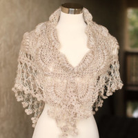 Bridal Shawl Shrug // Bridal Bolero // Shawl // Winter Wedding // Rustic Wedding //Bridal accessories Bolero // Crochet Shawl /Wedding shawl