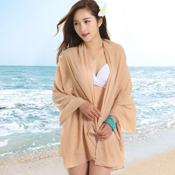 Sexy Sarong Summer Bikini Tan  Cover-up