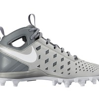 Nike Huarache 5 Youth Lacrosse Cleats - Silver/Gray