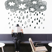 Doodle Clouds - Wall Sticker | Vinylize Wall Deco