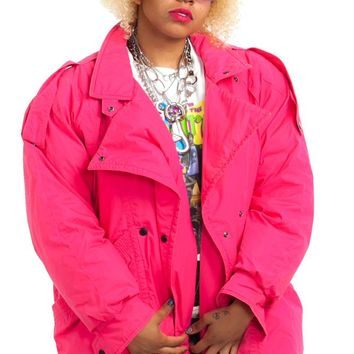 Vintage 80's Company Store Puffy Bubblegum Jacket - One Size Fits Many