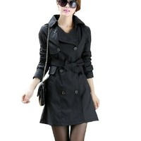 Partiss Womens Spring Korean Slim Fit Trench Coat