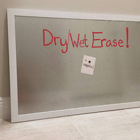 Kitchen Notice Board - Magnetic Dry Erase - Galvanized Whiteboard - Wet Erase - Rustic Home Decor - Handmade Galvanized Decor 3 x 2 ft