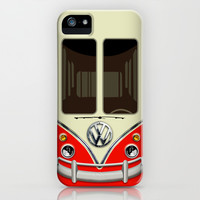 Summer Holiday Red kombi camper VW Volkswagen minivan minibus apple iPhone 4 4s, 5 5s 5c, 6, iPod & samsung galaxy s4 case