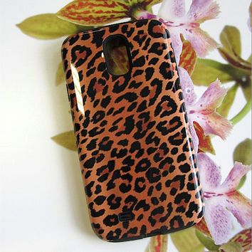 iPhone 6 Case| Leopard Samsung Galaxy Cell Case| Black Brown Wild Animal | casebythatsnancy