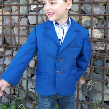 Boys Sport coat mod. Smart PDF Pattern 2, 3, 4, 5, 6 and 7 years, Boys' Sport Jacket , boy blazer pattern, dress clothes , pdf , boys suit