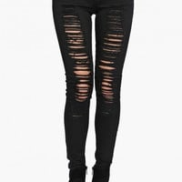 Dastardly Distressed Skinny Denim