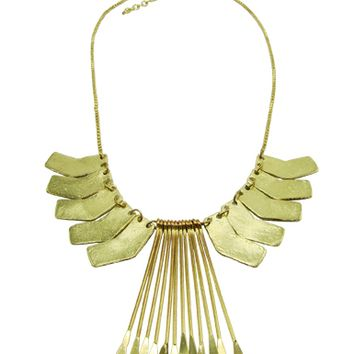Phoenix Gold Brass Necklace
