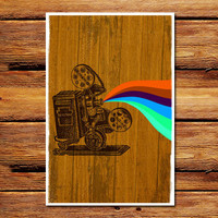 Projector On Wood Poster