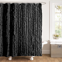Lush Decor Modern Chic Polyester Shower Curtain