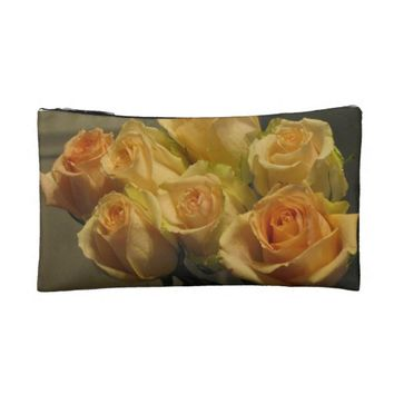 Yellow Roses Makeup Bag