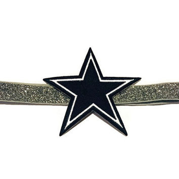 NFL Dallas Cowboys inspired headband- perfect for football season! Dallas Cowboys baby headband, Dallas Cowboys girl, free shipping!!!