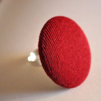 Ring with red button