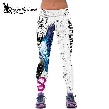 [You're My Secret] Women Leggings For Joggers Fitness Legging High Waist Elastic Tiger Sporting Leggins Workout Jegging Legging