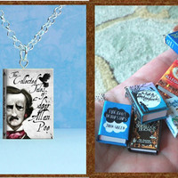 The Collected Tales Of Edgar Allan Poe - Micro Mini Book Necklace