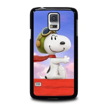 snoopy dog samsung galaxy s5 case cover  number 1