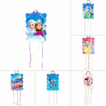 1set Frozen Cars Minnie Mickey Mouse Disney Princess Pinata Kids Birthday Party Funny Game Playing Happy Birthday Party Supplies