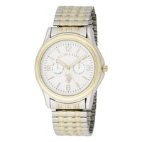 U.S. Polo Assn. Classic Men's USC80010 Two-Tone Analogue White Dial Expansion Watch