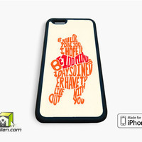 Winnie The Pooh Quotes iPhone Case 4, 4s, 5, 5s, 5c, 6 and 6 plus by Avallen