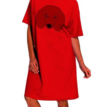 Cute Doxie Dachshund Dog Adult Wear Around Night Shirt and Dress by TooLoud