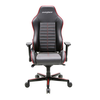 DXRacer DJ188NR Full Grain Leather Ergonomic Executive Office Chair Computer-Red