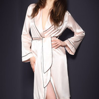 Pink Classic Gown Robe with Belt