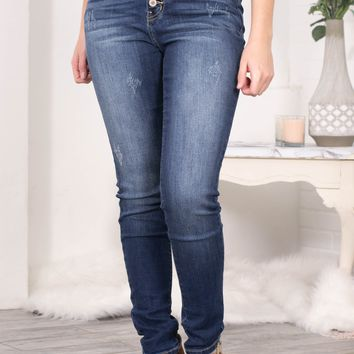 Jolie Medium Wash Skinny Denim