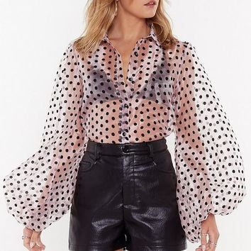 Spot Enough Drama Organza Blouse