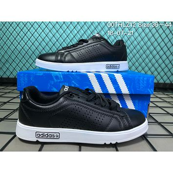 JIJS2 A041  EQTsh NEOER Leather Punching Breathable Casual Skate Shoes Black
