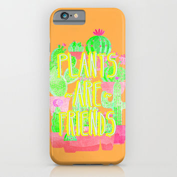 PLANTS ARE FRIENDS iPhone & iPod Case by Sara Eshak