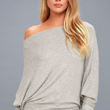 Very Cool Heather Grey Thermal Long Sleeve Top