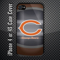 Chicago Bears NFL Team Custom iPhone 4 or 4S Case Cover