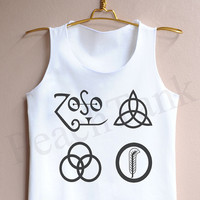 Led Zeppelin Logo - Tank Top , Tank , Cute Tank Top , Led Zeppelin Logo Tank top