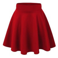 "MBJ Womens The ""IT"" Skater Skirt M RED"